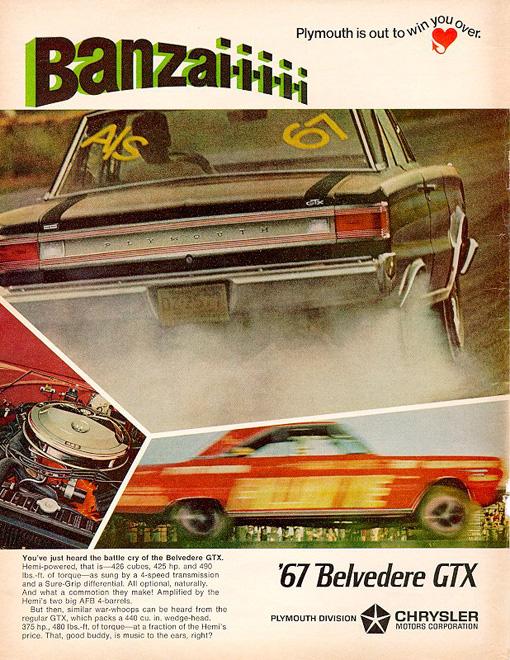 1967 Plymouth GTX Factory Advertisement